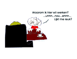 Cartoon sollicitatiegesprek